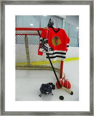 Chicago Blackhawks Home Hockey Jersey Framed Print