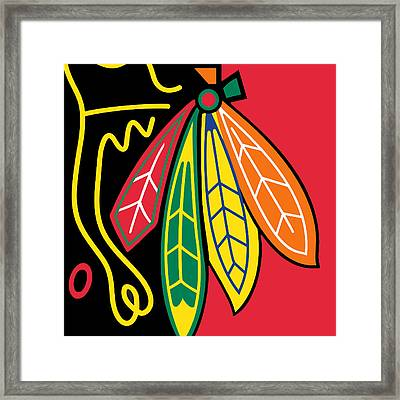 Chicago Blackhawks Framed Print by Tony Rubino