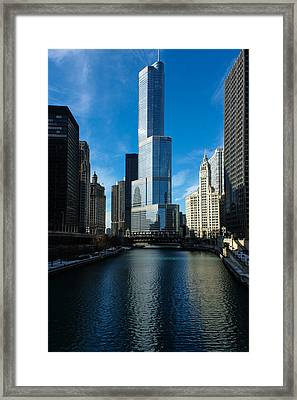 Framed Print featuring the photograph Chicago Blues by Georgia Mizuleva