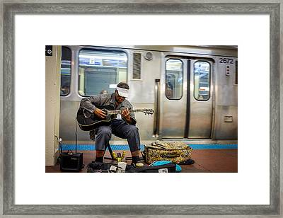 Chicago Bluesman Framed Print