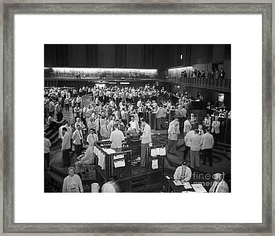 Chicago Board Of Trade 1957 Framed Print by Martin Konopacki Restoration