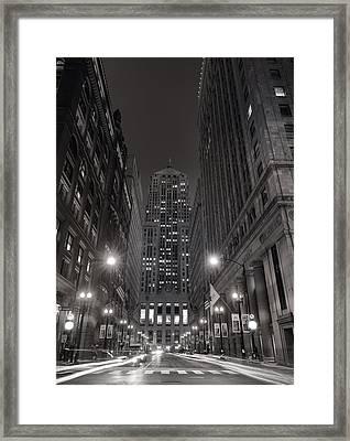 Chicago Board Of Trade B W Framed Print by Steve Gadomski
