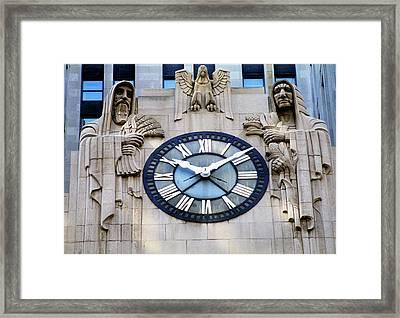 Chicago Board Of Trade Building Clock Framed Print