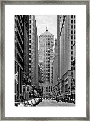 Chicago Board Of Trade Framed Print by Christine Till