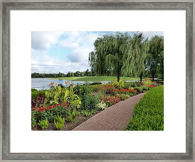 Chicago Botanical Gardens - 96 Framed Print by Ely Arsha