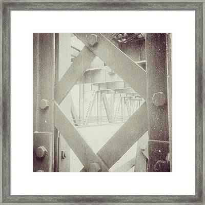 Chicago Bridge Ironwork Vintage Photo Framed Print