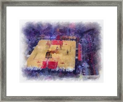 Chicago Bulls Game Day Photo Art 01 Framed Print by Thomas Woolworth