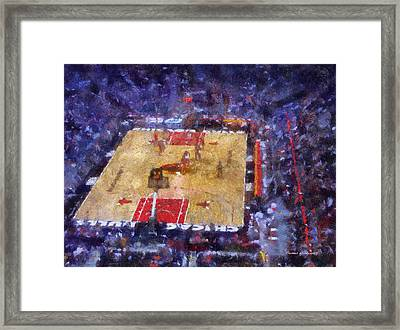 Chicago Bulls Game Day Photo Art 02 Framed Print by Thomas Woolworth