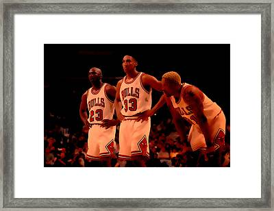 Air Jordan And Crew Framed Print