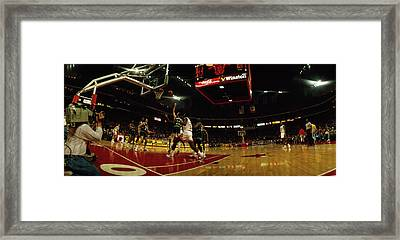 Chicago Bulls Player Playing Framed Print