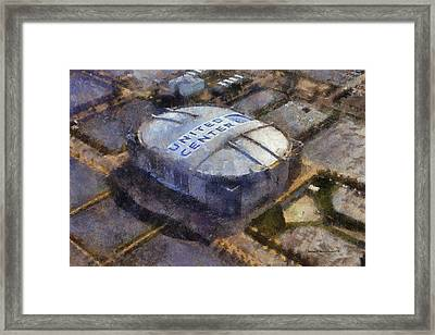Chicago Bulls United Center 02 Photo Art Framed Print by Thomas Woolworth