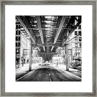 #chicago #chicagogram #blackandwhite Framed Print