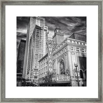 #chicago #chicagogram #chicagotheatre Framed Print