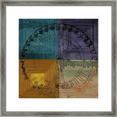 Chicago City Collage 3 Alternative Framed Print by Corporate Art Task Force