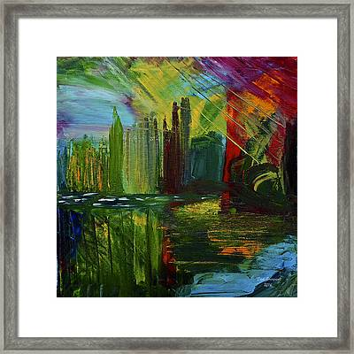 Chicago City Scape Framed Print by Dick Bourgault