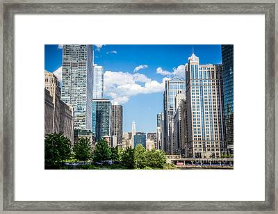Chicago Cityscape Downtown Buildings Framed Print by Paul Velgos