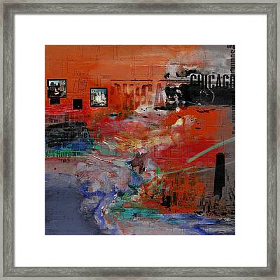 Chicago Collage 2 Alternative Framed Print by Corporate Art Task Force