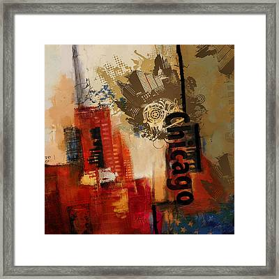 Chicago Collage Alternative Framed Print
