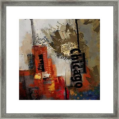 Chicago Collage Framed Print by Corporate Art Task Force
