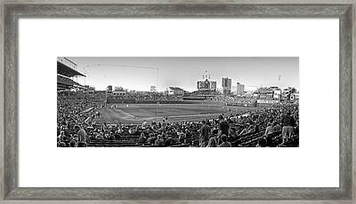 Chicago Cubs 5 Minutes Till Game Time Framed Print by Thomas Woolworth