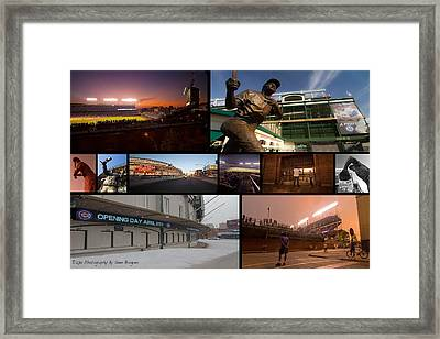 Chicago Cubs Photo Collage Framed Print by Sven Brogren