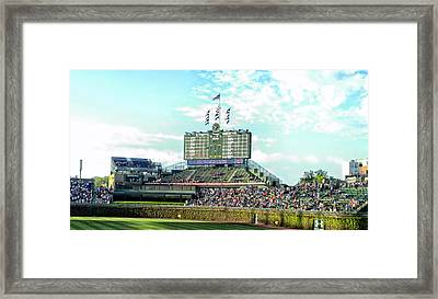 Chicago Cubs Scoreboard 01 Framed Print by Thomas Woolworth