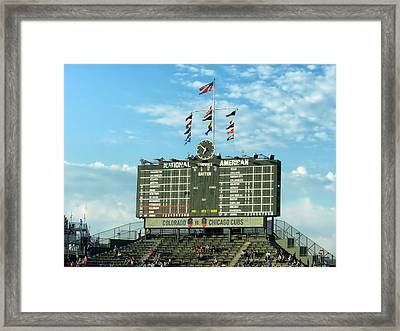 Chicago Cubs Scoreboard 02 Framed Print by Thomas Woolworth