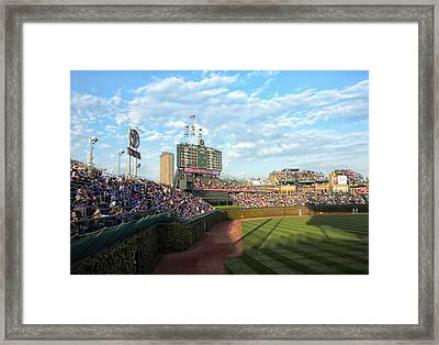 Chicago Cubs Scoreboard 03 Framed Print by Thomas Woolworth
