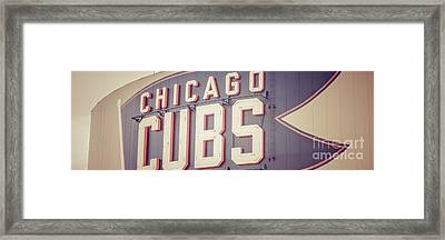 Chicago Cubs Sign Vintage Panoramic Picture Framed Print