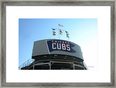 Chicago Cubs Signage Framed Print by Thomas Woolworth