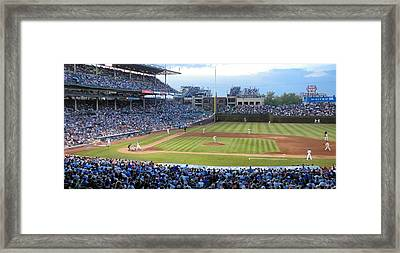 Chicago Cubs Up To Bat Framed Print by Thomas Woolworth