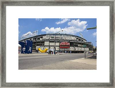 Chicago Cubs Wrigley  Framed Print by John McGraw