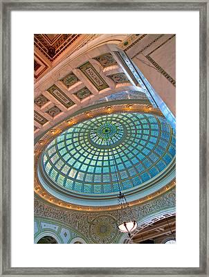 Chicago Cultural Center Tiffany Dome Framed Print by Kevin Eatinger