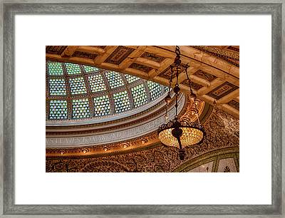Chicago Cultural Center Tiffany Dome Framed Print