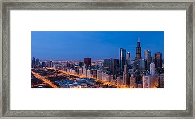 Chicago Dawn Framed Print by Steve Gadomski