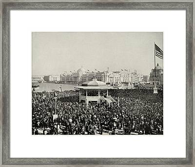Chicago Day At Worlds Fair Columbian Exposition 1893 Framed Print by Historic Photos