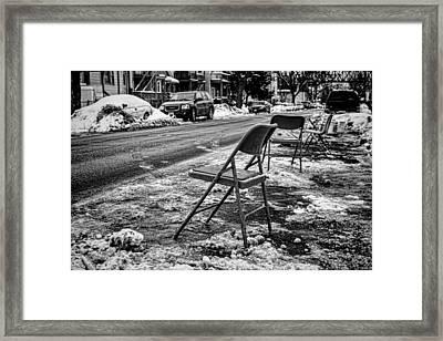 Chicago Dibbs Parking Scene Framed Print