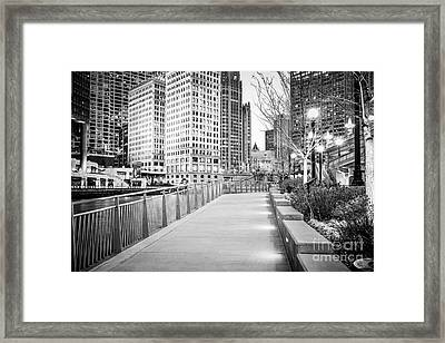 Chicago Downtown City Riverwalk Framed Print