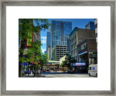 Chicago - E Randolph Street 001 Framed Print by Lance Vaughn
