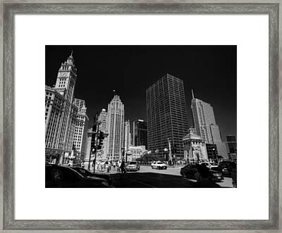 Chicago - E Wacker Drive Framed Print by Lance Vaughn