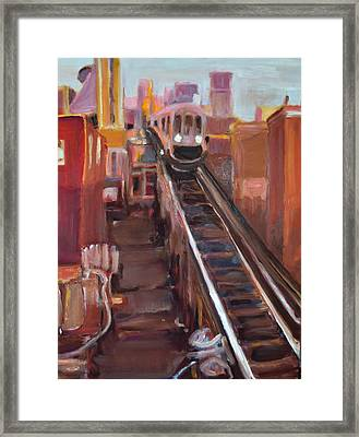 Chicago El Framed Print