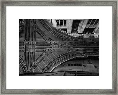 Chicago El Tracks Framed Print by Mike Burgquist