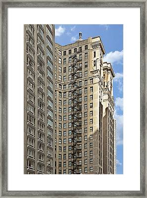 Chicago - Emergency Fire Escape Framed Print