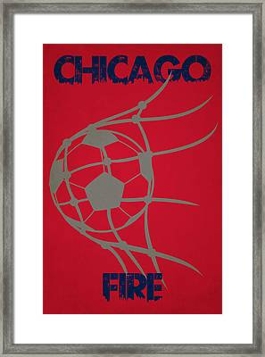 Chicago Fire Goal Framed Print by Joe Hamilton
