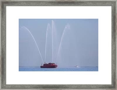Chicago Fireboat Framed Print