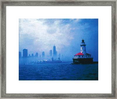 Chicago Fog Framed Print