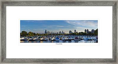 Chicago From Diversey Harbor Framed Print by Twenty Two North Photography