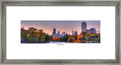 Chicago From Lincoln Park Framed Print