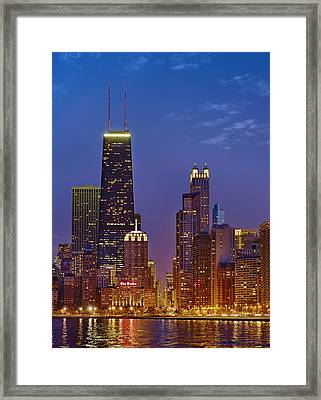 Chicago From North Avenue Beach Framed Print by Donald Schwartz