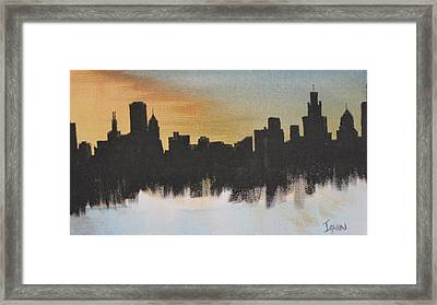 Framed Print featuring the painting Chicago by Gary Smith